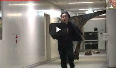 Funny Japanese prank: Dino Attack