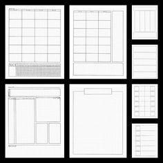 Bullet Journal Pages de planificateur modèles par BlacklineMasters