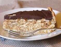 German Chocolate Pie Will have to find 'biscuits' Non Bake Desserts, Italian Desserts, Mini Desserts, Italian Recipes, Delicious Desserts, Yummy Food, German Chocolate Pies, Chocolate Pie Recipes, Sweet Recipes