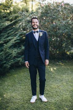 Un beau jour : Charlotte & Jules Wedding Wear, Wedding Groom, Wedding Attire, Wedding Events, Wedding Gowns, Wedding Colors, Wedding Styles, Blue Groomsmen, Marriage Dress