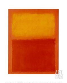 Orange and Yellow Art Print by Mark Rothko at Art.com
