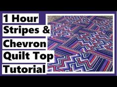 1 Hour Stripes & Chevron Quilt Top Tutorial - YouTube Big Block Quilts, Quilt Blocks, Penny Auctions, Crumb Quilt, Half Square Triangle Quilts, Chevron Quilt, Free Kindle Books, Quilt Top, Book Lists