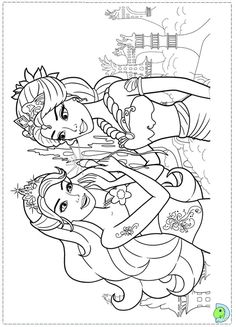 Barbie Mermaid Coloring Page --> If you're in the market for the top adult coloring books and writing utensils including colored pencils, gel pens, watercolors and drawing markers, go to our website at http://ColoringToolkit.com. Color... Relax... Chill.