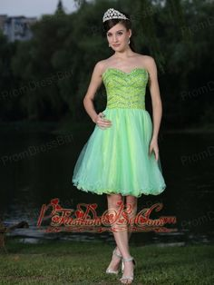 Sweetheart Neckline Beaded Decorate Bodice Green 2013 Prom / Cocktail Dress  http://www.fashionos.com/  http://www.facebook.com/quinceaneradress.fashionos.us  If you want to find a chic and sassy prom dress, this one is the best choice. It features a pretty strapless bodice with a sweetheart neckline. The whole bodice is made by a colorful and shinning beading fabric. Several layer of tulle makes the skirt lovely and sweet. A corset back completes the design.