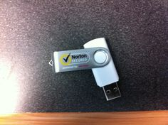 Promotional flash drive Norton secured mailed out to promote their new product release.