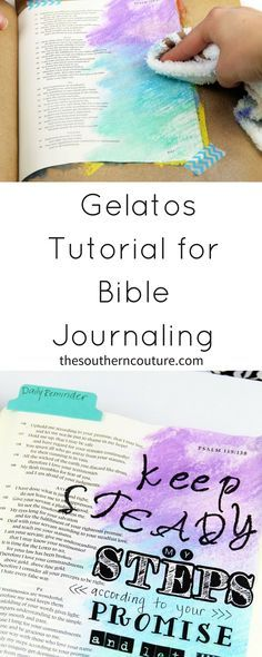 Faber Castell Gelatos Tutorial for Bible Journaling Always wanted to try using gelatos but felt intimidated? I have the EASIEST technique for using them and how you can make your Bible pages or art journal really stand out. Faith Bible, My Bible, Bible Art, Book Art, Bible Quotes, Bible Study Journal, Scripture Study, Art Journaling, Prayer Journals