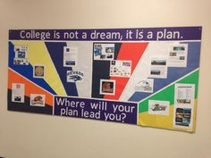 College is not a dream; it is a plan - from Modoc High School AVID! Middle School Counseling, College Counseling, High School Classroom, Education College, School Counselor, Classroom Ideas, College School, Primary Education, Music Education
