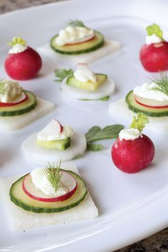 Vegetable Crudités with Wasabi Cream Cheese