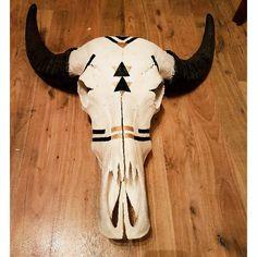 Water Buffalo Skull Bohemian Design