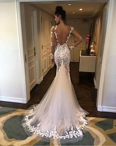 Open Back Lace Mermaid Wedding Dresses - Wedding - # Bridal Dresses . - Open Back Lace Mermaid Wedding Dresses – Wedding – # - Lace Mermaid Wedding Dress, Mermaid Dresses, Dream Wedding Dresses, Bridal Dresses, Wedding Gowns, Prom Dresses, Wedding Lace, Fall Wedding, Trendy Wedding