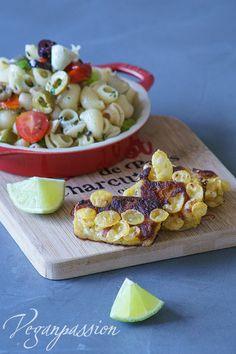 Veganpassion: Kichertofu in Knusperpanade mit Toscana Nudelsalat