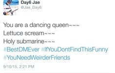 DAY6 Jae tweets - I don't use Twitter myself but Jae has earned himself bias status with the 3 of his I've read so far...