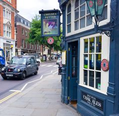 The Chelsea Potter pub on the King's Road in London is steeped in rock and roll history as a former favorite of Jimi Hendrix and the Rolling Stones.