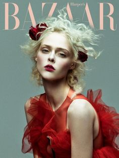 Coco Rocha wears floral look on Harper's Bazaar Vietnam January 2017 coverCoco Rocha models blue dress with ruffled detailsLooking lovely in red, Coco Rocha - Lafestar Wholesale Fashion Magazine Cover, Fashion Cover, Fashion Shoot, Dress Fashion, Vogue Editorial, Editorial Hair, Editorial Fashion, Vogue Photography, Editorial Photography