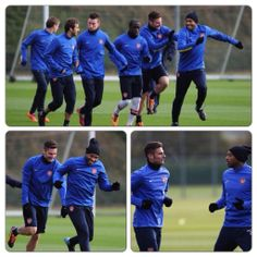 Arsenal Train With Henry for Company Montage.