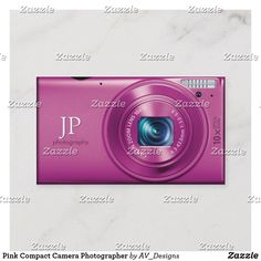 Shop Pink Compact Camera Professional Photographer Business Card created by AV_Designs. Photographer Business Cards, Photography Business, Professional Photographer, Custom Business Cards, Business Card Design, Referral Cards, Digital Camera, Compact, Things To Come