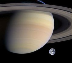 Saturn, rings and Earth