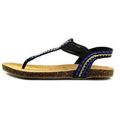 XOXO Womens Alina Flip Flop Black 7 M US -- Check out the image by visiting the link.