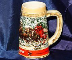 Vintage Budweiser King Of Beers 1987 C Series Stein by TheThreeLsStudio on Etsy https://www.etsy.com/listing/182920281/vintage-budweiser-king-of-beers-1987-c