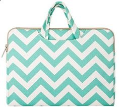 Mosiso Laptop Briefcase Bag, Canvas Fabric Sleeve Carry Case Handbag Cover for 15-15.6 Inch MacBook Pro, Notebook Computer, Chevron Hot Blue#laptopcases #laptopbags #Laptopsleeves #macbooksleeves $18.99