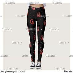 Shop Red glitters leggings created by DISENIAZ. Leggings Fashion, Workout Leggings, Women's Leggings, Black Leggings, Custom Leggings, Fitness Fashion, Gym Fashion, Fashion Outfits, Glitter Leggings