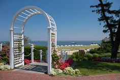 Trellises always lead to someplace special... such as the beach at #ChathamBarsInn. www.ChathamBarsInn.com