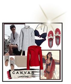 """""""Untitled #403"""" by kristikay50 ❤ liked on Polyvore featuring Lands' End, Canvas by Lands' End, TrickyTrend and culottes"""