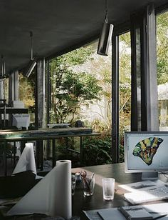Peter Zumthor's home office.