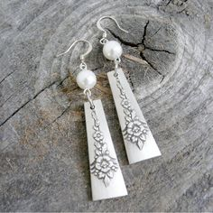 Antique Silverware Earrings  Spoon Jewelry by Revisions on Etsy