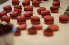 Pierre Herme Chocolate French Macarons It's no secret, I love to make French Macarons.  If you've read my previous posts, you now know the only recipes I use come from the King of French pastry; Pierre Herme's  fabulous cookbook MACARONS.  Pierre features