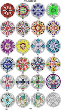 "Rosette Kit Fabric Native American Designs to Make 2 5"" Dia 4 