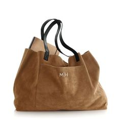 I love this tote. I am tote obsessed as it is but this is lovely. Suede Boho Bag Mark & Graham- ORDERED- added the Zip pouch as well. Suede Tote Bag, Tote Purse, Crossbody Tote, Suede Handbags, Purses And Handbags, Brown Handbags, Tote Handbags, Monogram Tote Bags, Fashion Bags