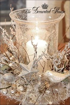 White Christmas Centerpieces