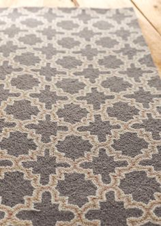 also gorgeous - dash & albert plain tin charcoal hooked wool rug - i can't decide!  shades of gold & gray have my total admiration #LGDreamFoyer