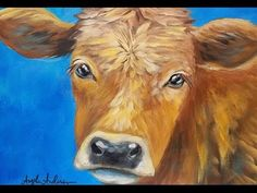 Cow Acrylic Painting Tutorial LIVE Beginner Step by Step Impressionist Lesson Angela Anderson Cow Paintings On Canvas, Animal Paintings, Canvas Art, Paintings Of Cows, Acrylic Painting For Beginners, Acrylic Painting Tutorials, Step By Step Painting, Painting Lessons, Painting & Drawing