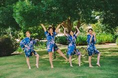 Bridesmaids having fun at Mulberry Lodge