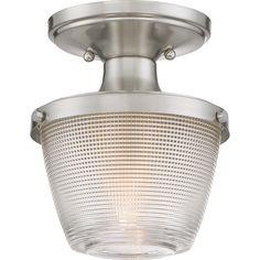 Quoizel|DBN1707BN|Semi flush brsh nikl