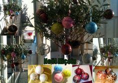 Sapin de Noël 100% Niçois :   Philippe a décoré son olivier avec mes créas !   #boulenoël #christmas #decorationnoel #decorationsapin #faitmain #creationfrancaise #modeleunique  #nicecotedazur  #Creasoize