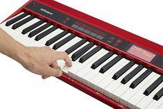 Roland Go Keys Music Creation Keyboard. Nice keyboard in glorious shiny red Midi Keyboard, Recording Studio Design, Recording Equipment, Studio Gear, Bluetooth Speakers, Piano, Keys, Music, Nice
