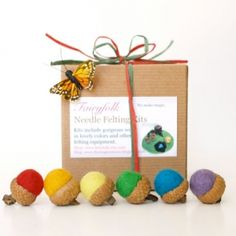 Learn how to make the cutest felted acorns. Decorate your home with your very own handiwork as you follow my easy, step-by-step, directions. This is a super felting project for children and beginne...