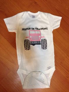 Jeep baby onesie. Jeeper in training by JDbabytique on Etsy