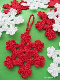 Gehäkelte Schneeflocke Muster, Christbaumkugel häkeln Schneeflocke, häkeln Cluster Stitch Tutorial, Lyubava häkeln Muster Nummer 6
