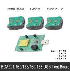 eMMC/eMCP 3in1 test socket eMMC programmer adapter reader BGA169/153/162/186/221