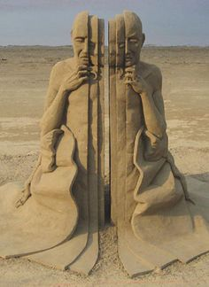 How on earth did they stop the sand sculpture collapsing??
