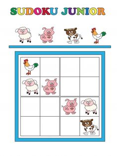 This free printable Sudoku junior worksheet is a great way to get students thinking logically and solving problems. This version of Sudoku junior features cute farm animals, and your child must fill in the blank boxes with any of the four animals on the sheet – but be careful! The animals can only appear once in each row, column, and group of four.  Once your child has finished the puzzle, see what other farm animals they can name!   Read more at…