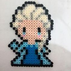 Elsa Frozen perler beads by 2ezzz