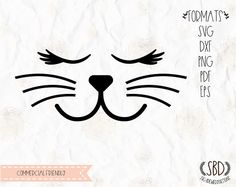 70 Ideas crochet cat face design for 2019 Silhouette Studio, Silhouette Cameo, Cat Icon, Laser Art, Stencil Templates, Face Design, Cat Photography, Cricut Creations, Cat Drawing