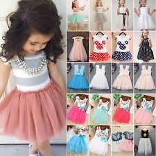 Toddler Girls Princess Dress Kids Baby Party Wedding Pageant Tulle Tutu Dresses http://ift.tt/2tyAGad