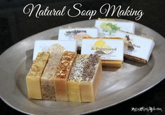 Natural Soap Making {Cold Process} ~ a Tutorial, in Photos #naturalsoap #soapmaking Need to try soapmaking!!