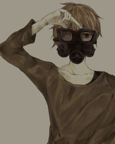 Anime boy in a smoke mask (are you my mommy?) eh eh get it? :D it's alright if you don't get it, it's a doctor who thing ;)
